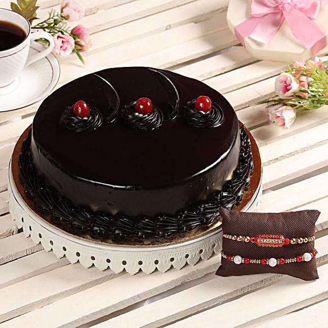 Online Cake and Designer Rakhi For Bhai