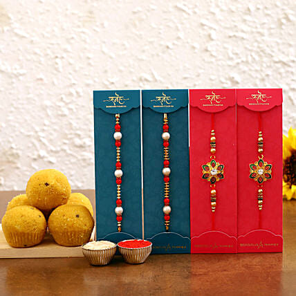 rakhi set n besan laddu for brothers online