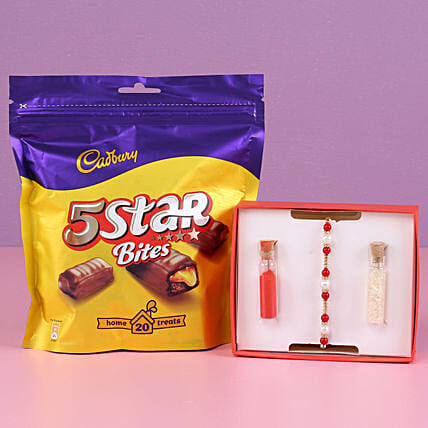 Online Rakhi With Chocolate Pack