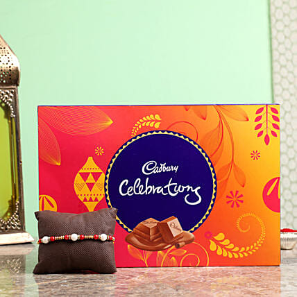 pearl rakhi with cadbury celebrations online