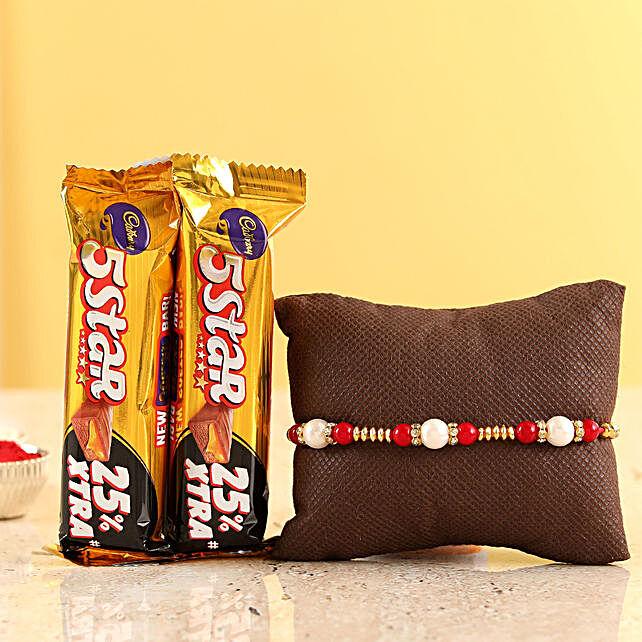 pearl rakhi n five star chocolates online