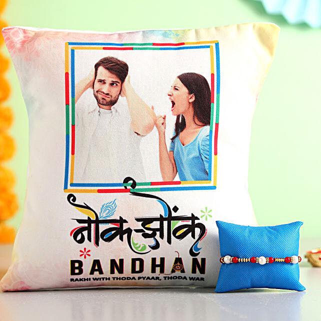 Online Cushion With Rakhi