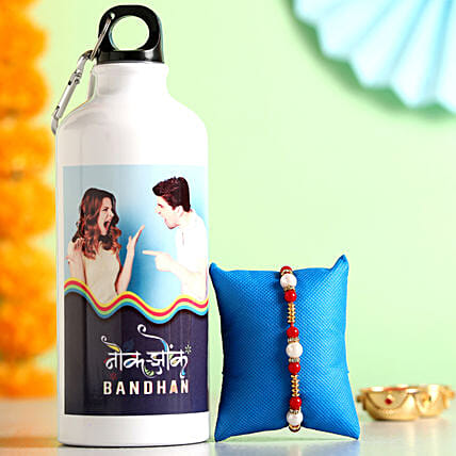 Online Water Bottle With Rakhi