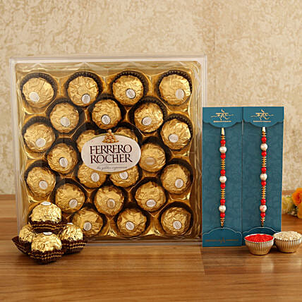 online set of rakhis with chocolate combo
