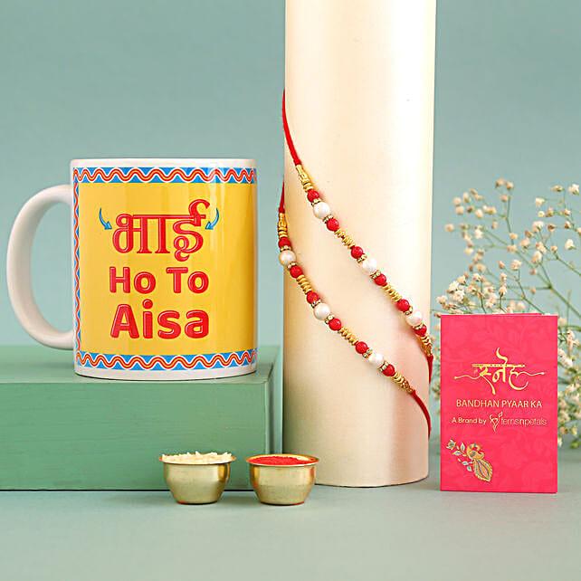online Pearl Rakhis & Bhai Ho Toh Aisa Mug