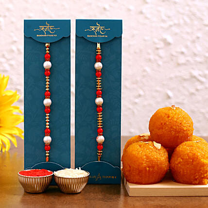 online rakhis with laddu combo:Rakhi with Sweets