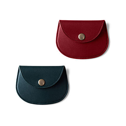 Pellet Cable N Coin Wallet Red & Green - Set of 2