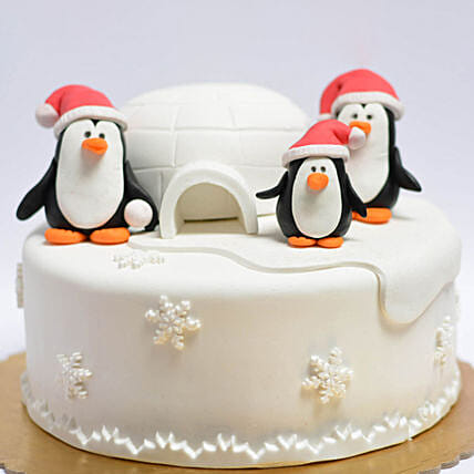 OnlinePenguins Igloo Truffle Cake