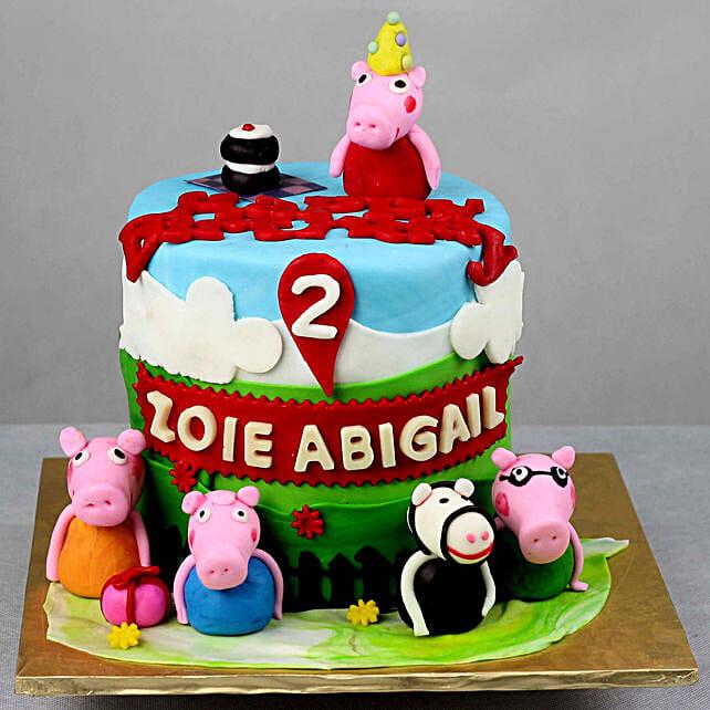 OnlinePeppa Pig Fondant Truffle Cake