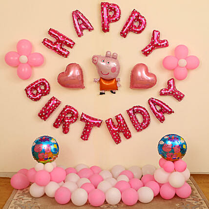 Peppa Pig Birthday Decorations for Kids