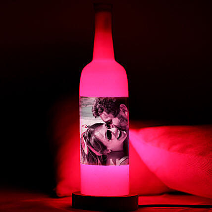 Perfect Picture Personalized Lamp-pink coloured personalized bottle lamp