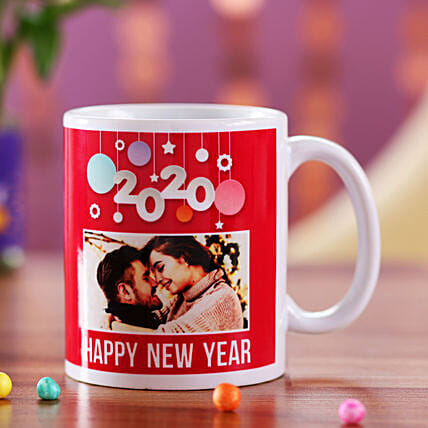Online Personalised New Year Red Mug:New Year Personalised Gifts