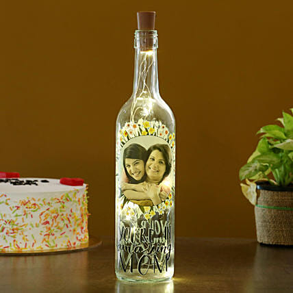 Personalised Amazing Mom LED Bottle Lamp