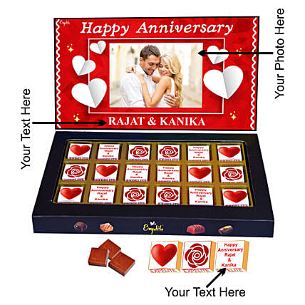 Buy Online Customised Anniversary Chocolate