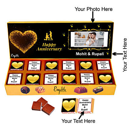 Order Personalised Anniversary Chocolate