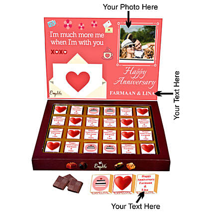 Personalised Anniversary Chocolate Online