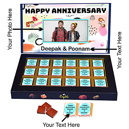 Send Personalised Anniversary Chocolate