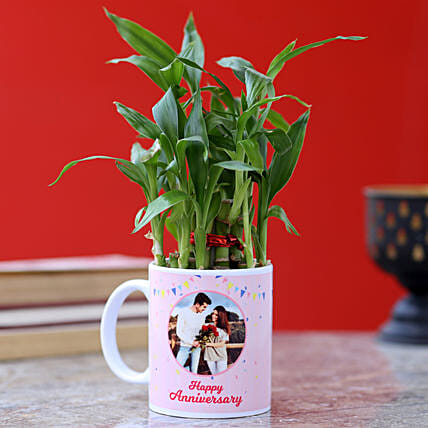 printed photo mug with bamboo plant for him online