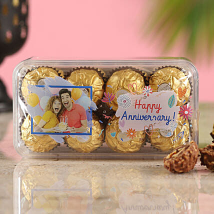 Personalised Anniversary Wishes Ferrero Rocher Box:Customised Chocolates