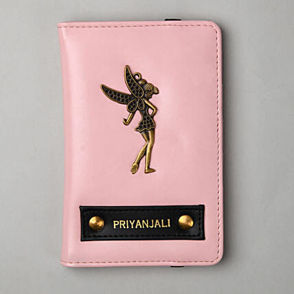 Personalised Baby Pink Passport Cover