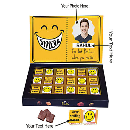 Personalised Best Smile In the World Chocolate Box