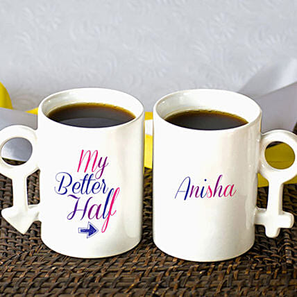 Personalised Better Half Mug Set