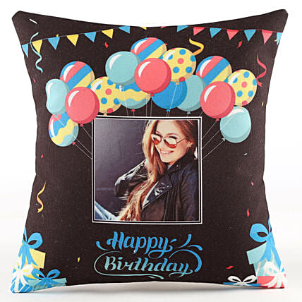 Birthday Balloon Printed Cushion Online
