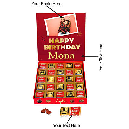personalised birthday chocolates:Customised Chocolates