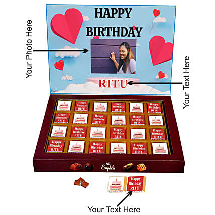 personalised chocolate box for girlfriend online