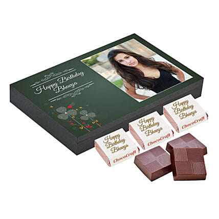 Chocolate with photo printed box