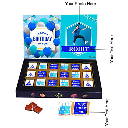 happy birthday personalised chocolate:Customised Chocolates