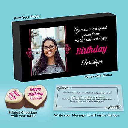 Personalised Birthday Chocolates For Her