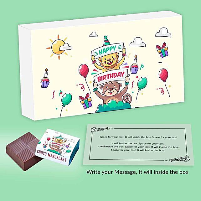 Personalised Birthday Message Chocolates