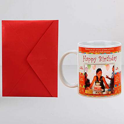 Personalised Birthday Mug n Greeting Card