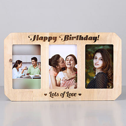 online customised One Personalised Wooden photo frame