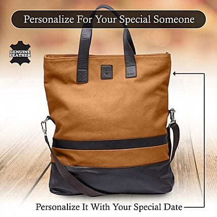 Customised Brown Shopping Bag Online:Handbags and Wallets Gifts