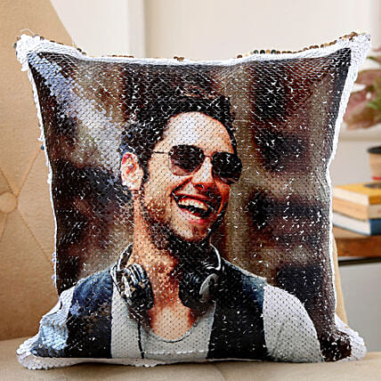 sequin cushion for him