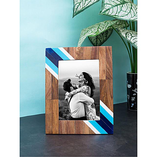 white wooden photo frame online:Wedding Special Photo Frames