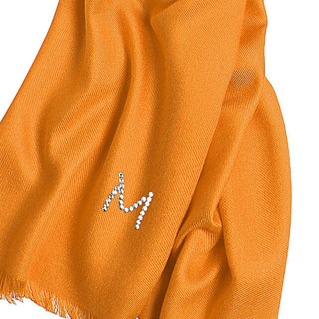 Online Customised Blushing Orange Pashmina