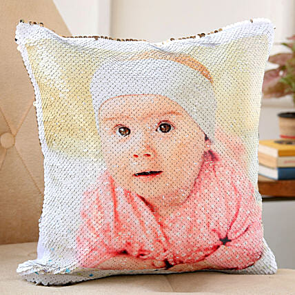 sequin cushion for baby