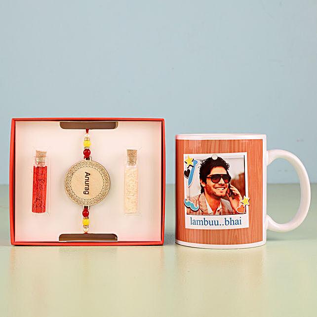 Personalised Rakhi with photo mug