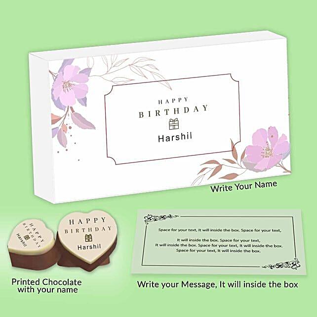 Personalised Chocolate Box For Birthday
