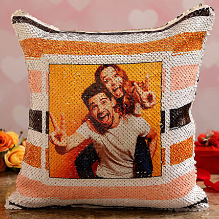 personalised cushion for valentines day:Customised Pillow