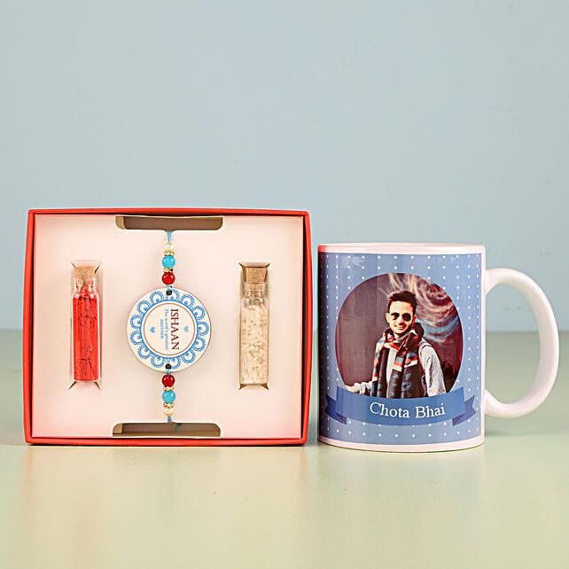 Printed rakhi and mug online:Rakhi Gifts to Kozhikode
