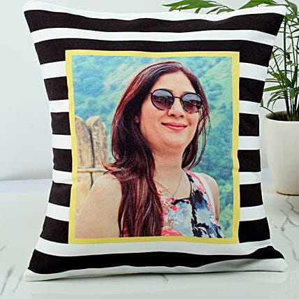 Personalised stripped cushion