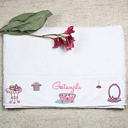 Personalised Cotton Bath Towel