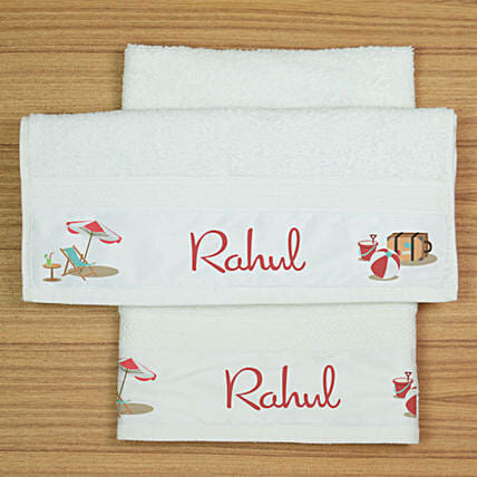 Personalised Cotton Hand Towel Set