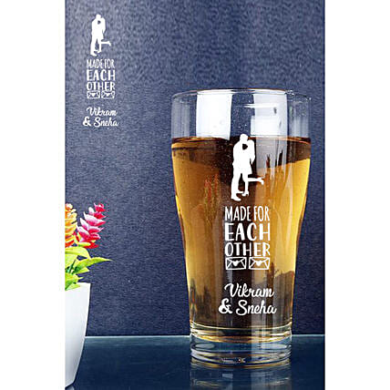 Personalised Couple Beer Conical Mug Online