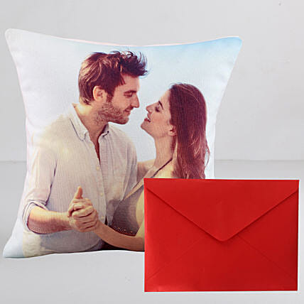 Personalised Couple Cushion n Greeting Card:Personalised Gifts N Greetings Cards