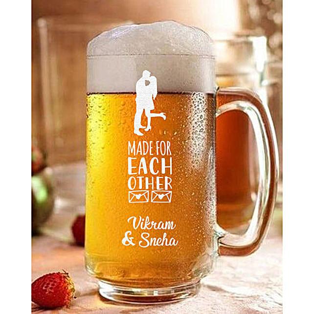 Personalised Couple Love Beer Mug Online:Buy Personalised Beer Glasses